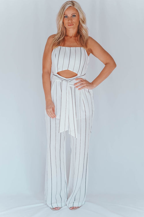 Striped Audriana Jumpsuit