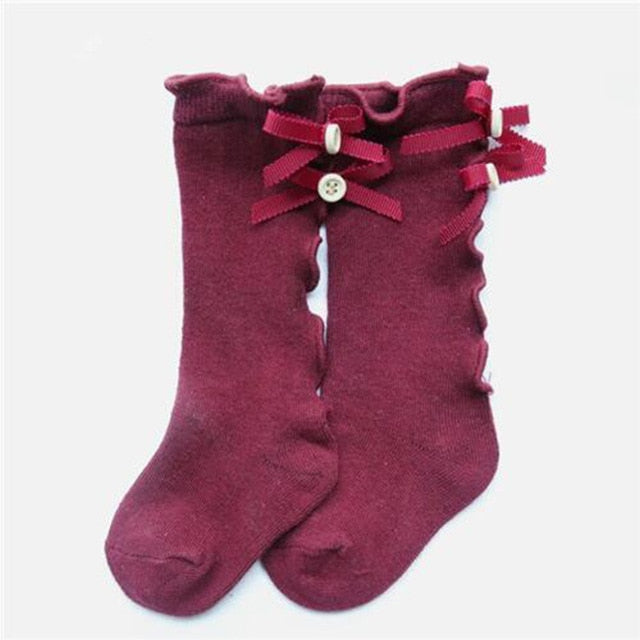 Knee High Ruffle Socks