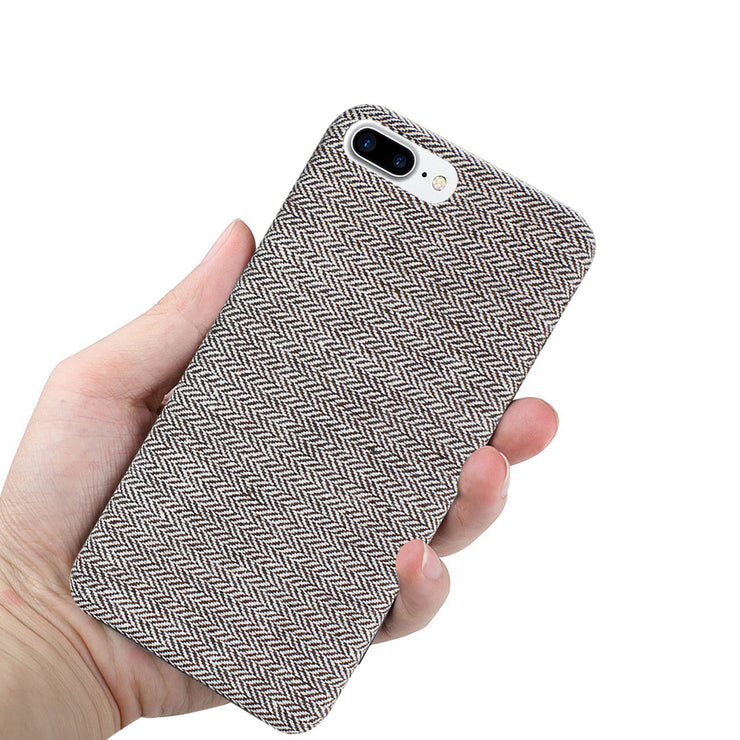 Virtual Reality Cases, Covers & Skins Reiko Iphone 8 Herringbone Fabric In Light Gray