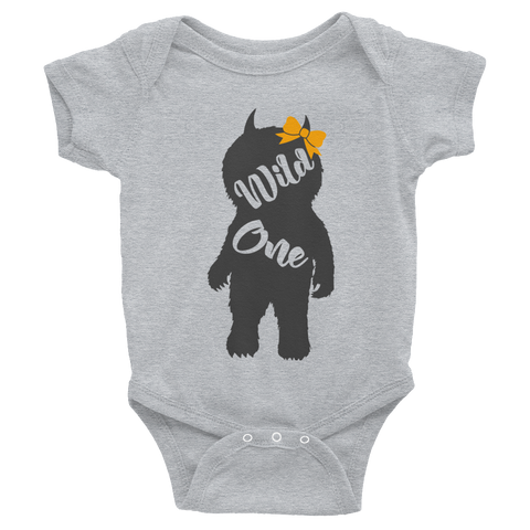 Wild One Girl Infant Bodysuit