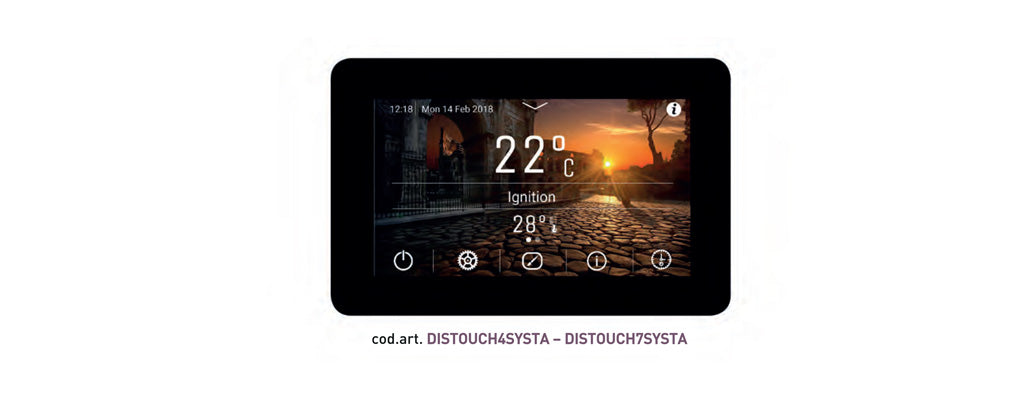 touchscreen_display per caldaie_ctm