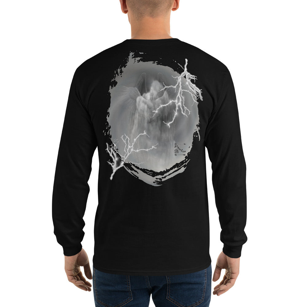 Men's Long Sleeve Shirt  Powerful Angel