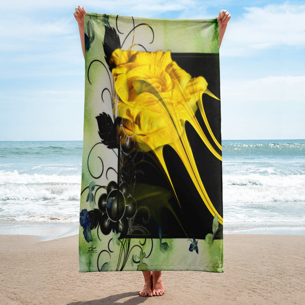 Towel Yellow Rose Paint