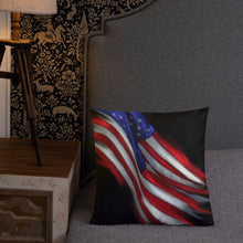 Premium Pillow Flag & Fireworks