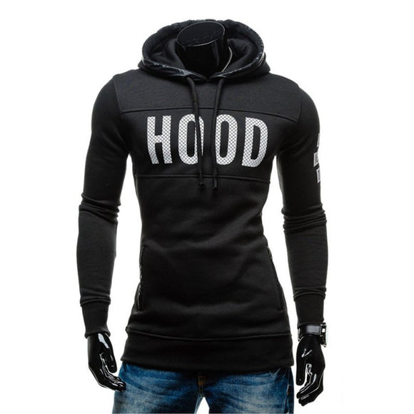 Winter Men Hooded Coat Warm Hoodie Slim Sweatshirt Tops Outwear Pullover
