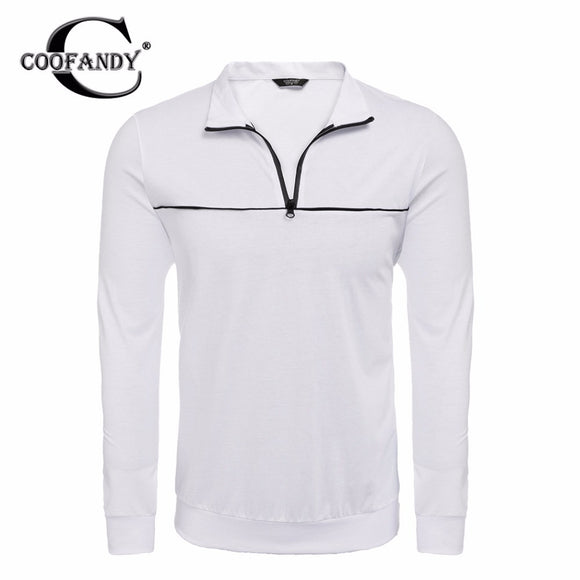 COOFANDY Men's Pullover Spring Autumn New Fashion Casual Stand Neck Quarter-Zip Patchwork Brand Male Pullover Sweatshirt