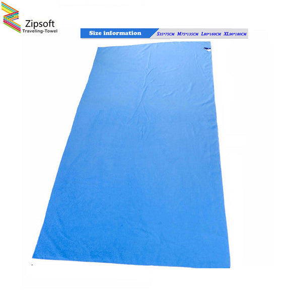 Zipsoft Brand Beach towel Microfiber Travel Fabric Quick Drying outdoors Sports Swimming Camping Bath Yoga Mat Blanket Gym 2017