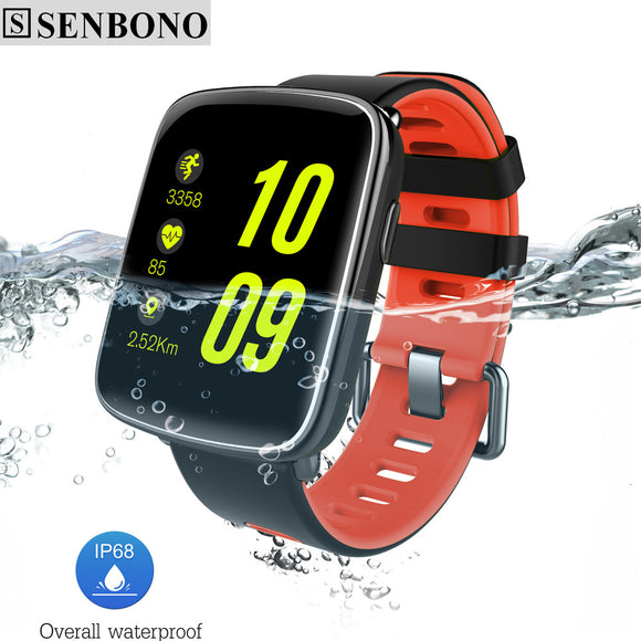 SENBONO SBN68 Bluetooth Smart Watch IP68 Waterproof MTK2502 Smartwatch Pedometer Sedentary alarm for IOS Android Phone