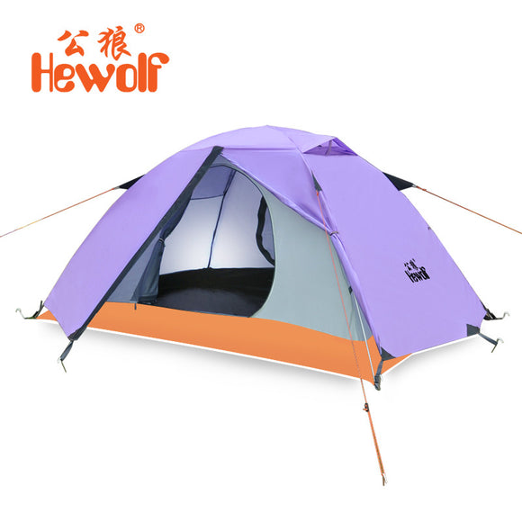 Hewolf Brand Professional outdoor double double camping camping equipment high quality four seasons anti-rain camp