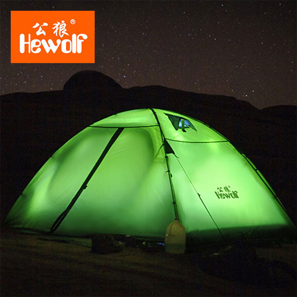 Hewolf Brand Outdoor supplies double camping tents rain professional camping mountaineering equipment tents