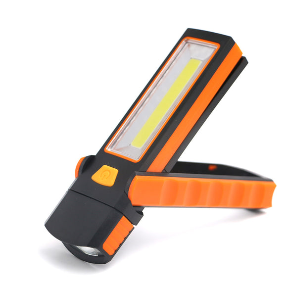 Sanyi Super Bright Adjustable COB LED Work Light Inspection Lamp Hand Torch Magnetic Camping Tent Lantern With Hook Magnet