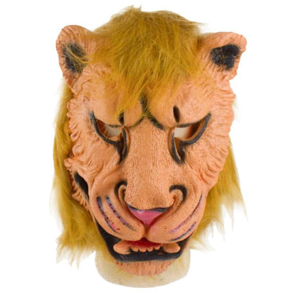 2015 Masquerade Masks Lion Mask Latex Animal Costume Prop Halloween Ball Mask Free Shipping