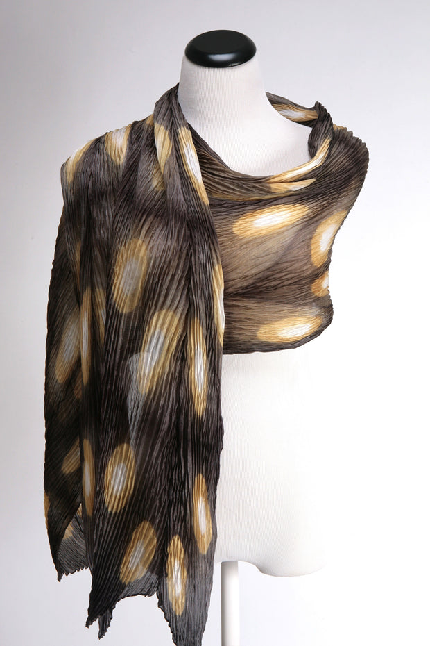 Golden Ovals Pleated Wrap