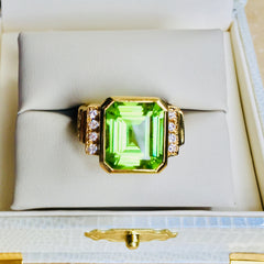 Burmese peridot even glows in lower light.