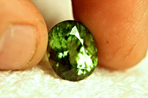 Peridot, 12.25 Ct. Himalayan Rutile, Horse Hair Inclusion Rutilated Peridot ( Rutile Peridot ) Untreated