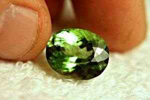 Peridot, 12.25 Ct. Himalayan Rutile, Horse Hair Inclusion Untreated