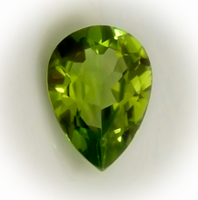 Peridot, Deep Green, Pear Cut, Superb Luster, Arizona