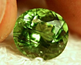 7.63ct Rutilated Peridot Rutile Horse Hair Inclusions