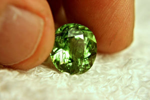 7.63ct Rutile Peridot with Horse Hair Inclusion
