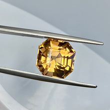 11.30 ct. Topaz, DEEP Peachy Gold, Ascher Cut, Shigar Valley, Skardu Mine, Flawless