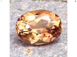 5.62 ct. Imperial Topaz, Oval, No Treatment, Russian, RARE