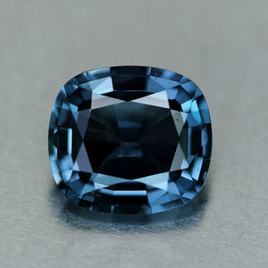 Ash Blue Spinel High End Gem, Beautiful Cushion Cut No-Treatment