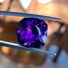 12.22 Amethyst, Uruguay, Flawless Clarity, Rare In This Quality, Cushion Cut