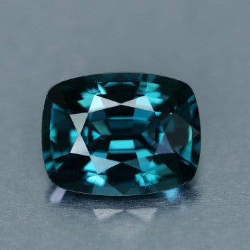 Blue Spinel, 3.24 Ct. Peacock Blue, Cushion Cut, Ceylon, VVS
