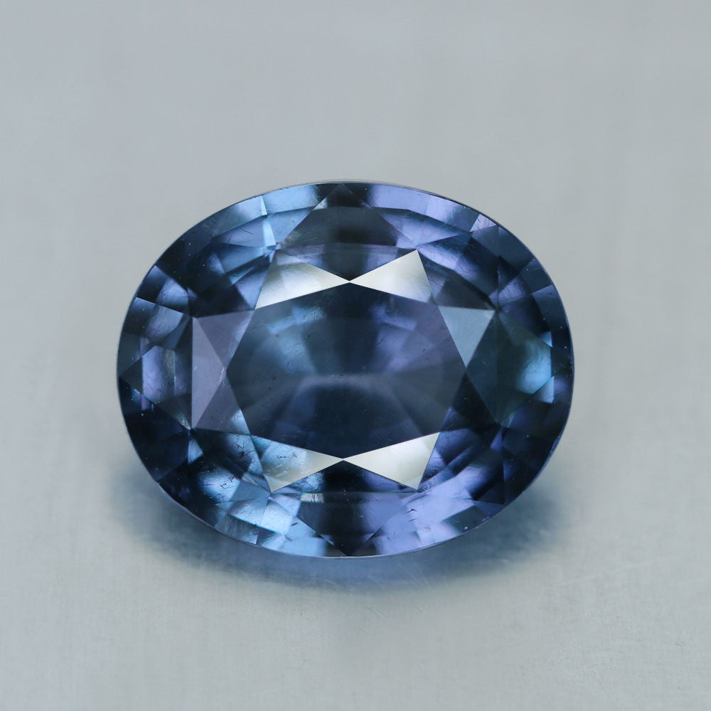 Blue Spinel, 3.28 Ct. Ash Blue, Ceylon Natural Cobalt Bearing, Flawless