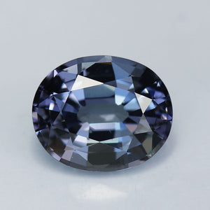 Blue Spinel, 3.72 Ct. Ash Blue, Oval Cut, Sri Lanka