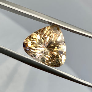 8.00 ct. Imperial Topaz, Peachy Gold, Trillion, Shigar Valley, Skardu Mine, VS