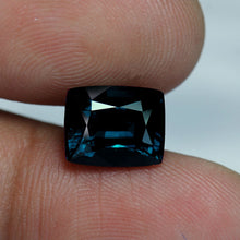 Blue Spinel, 4.20 ct. Teal Blue, VVS, Cushion Cut, GIA Certified