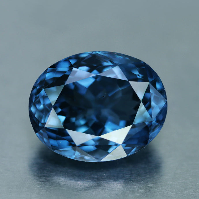 5.11 ct, Vivid Ink Blue Spinel Oval VVS Sri Lanka No Treatment, GIA Certified.