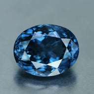 5.11 ct, Vivid Ink Blue Spinel Oval VVS Sri Lanka No Treatment