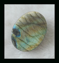 Large Faceted Labradorite Cabochon, Gold Flash 130 Carats