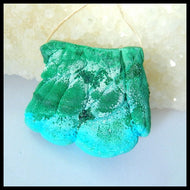 Druzy Malachite Drilled for Use as Pendant, Beautiful 136.4 Carats
