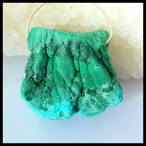 136.4 Carat Druzy Malachite Drilled for Use as Pendant, Beautiful