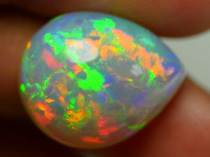 Opal showing all colors.