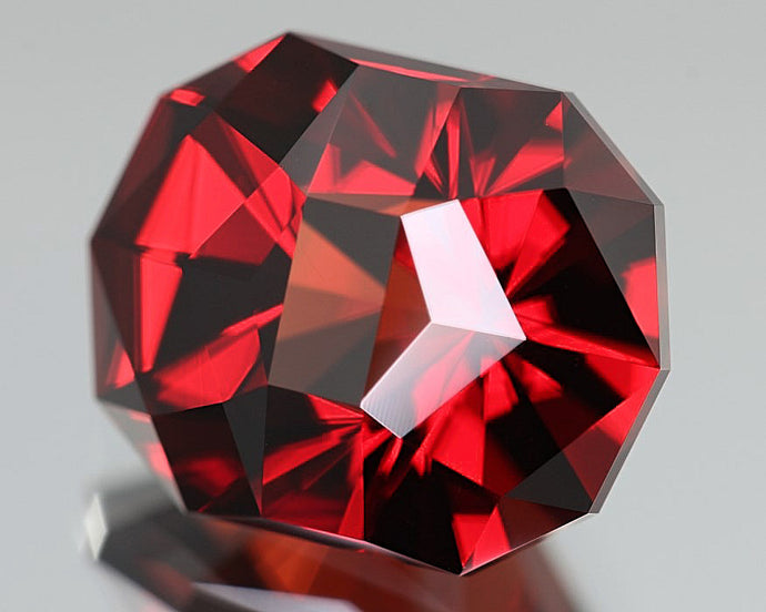 Malaia Garnet, 5.24 ct., Brilliant Red Color Shift to Gorgeous Orange Tones, Precision Cut in U.S., Malaya