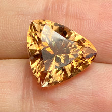 9.55 ct. Topaz, Peachy Gold, Trillion, Shigar Valley, Skardu Mine, Flawless