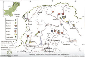 Gem Mining Map of Pakistan