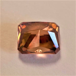 Top Color Zircon, Regal Radiant Cut by Award Winning Cutter John Dyer