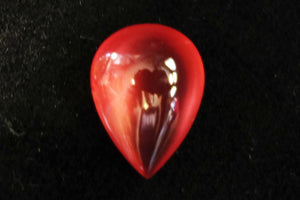 Rhodochrosite Cabochon, 14.92 ct. Translucent, Tear drop. Highly polished, Top Grade.