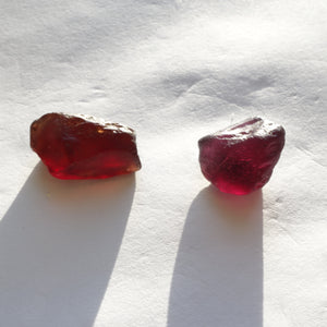 Malaya Garnet Rough, Pyralspite Garnet Rough, Facet Grade 2-Piece Parcel