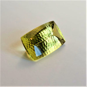 Citrine, 41.88 Ct. Lemon Yellow, Fancy Artisan Cut, Brazil, Flawless