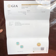GIA CERTIFIED, 17.48 Total Carat (2) Ice Blue Peruvian Opals with Rare Mulberry Hued Edges