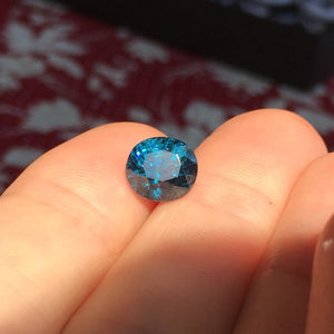 "3.15 Carat Vivid, Royal Blue Spinel, RARE Madagascar Origin. Almost round, slightly oval ""roval"""