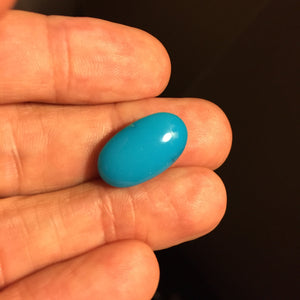 8.84 ct. Sleeping Beauty Turquoise Cabochon, Oval, Arizona