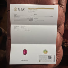 Full GIA certification, untreated rubellite tourmaline.