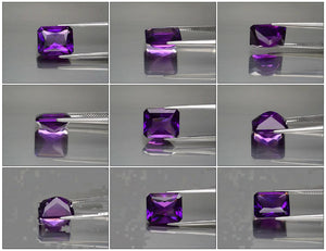 Amethyst, 5.14 ct., Radiant Cut, Purple Perfection, Uruguay, VVS, No Heat